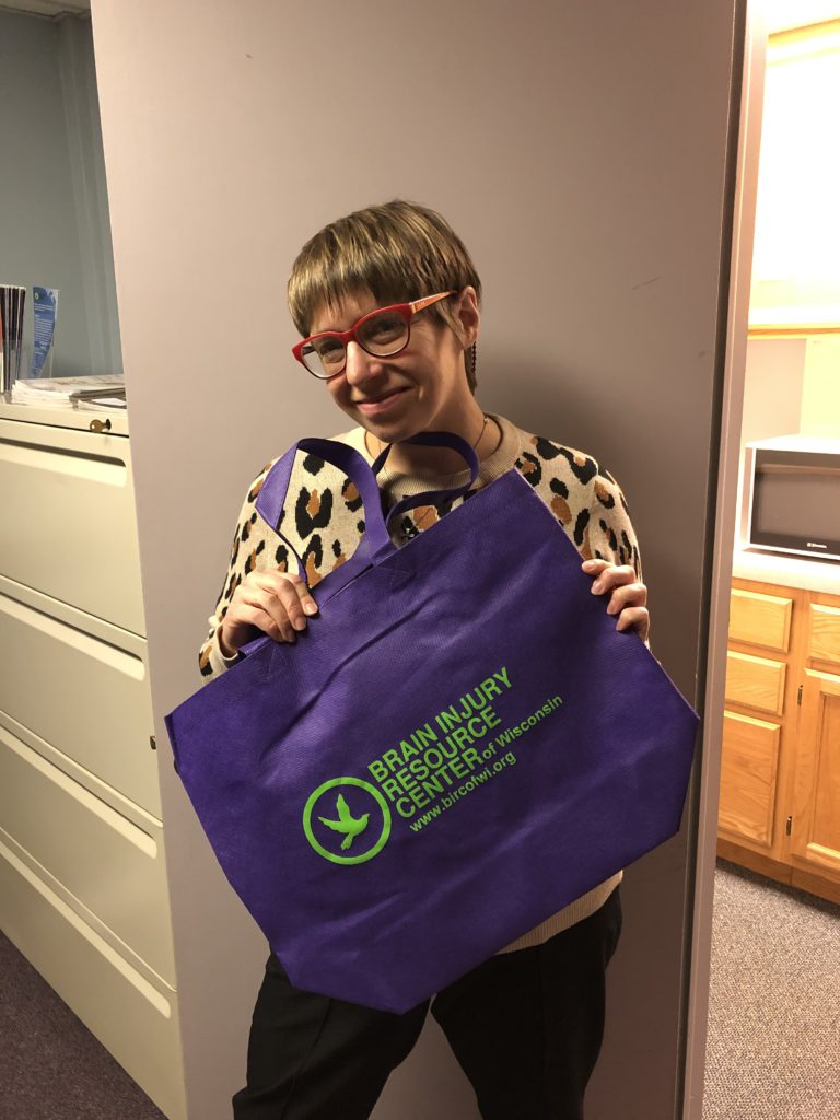 Katie with her Tote Bag